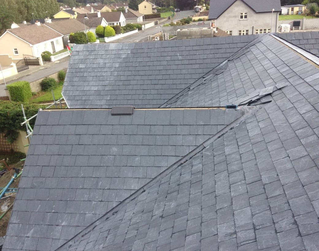 Slate and tiled roof